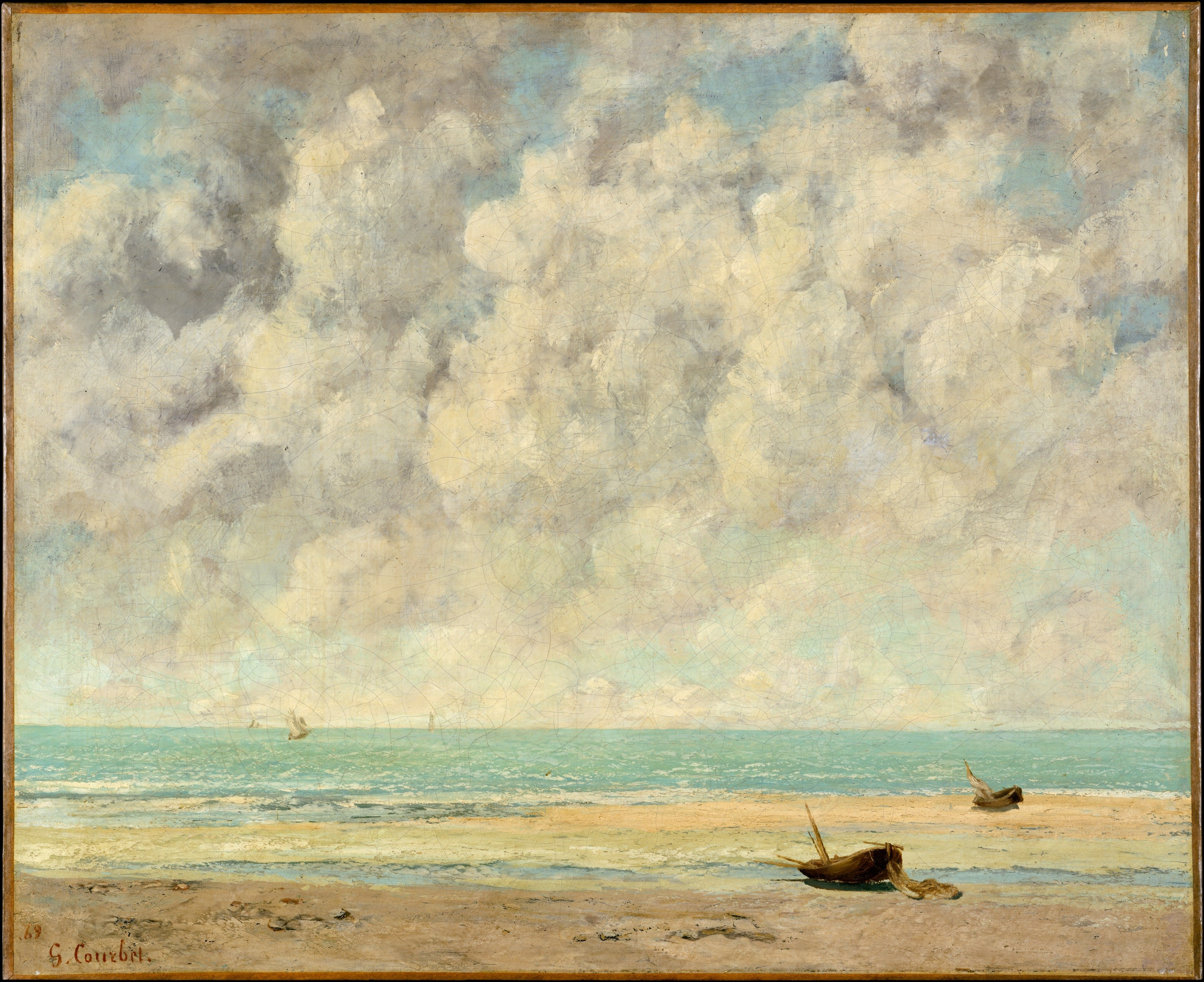The Calm Sea, Courbet-min