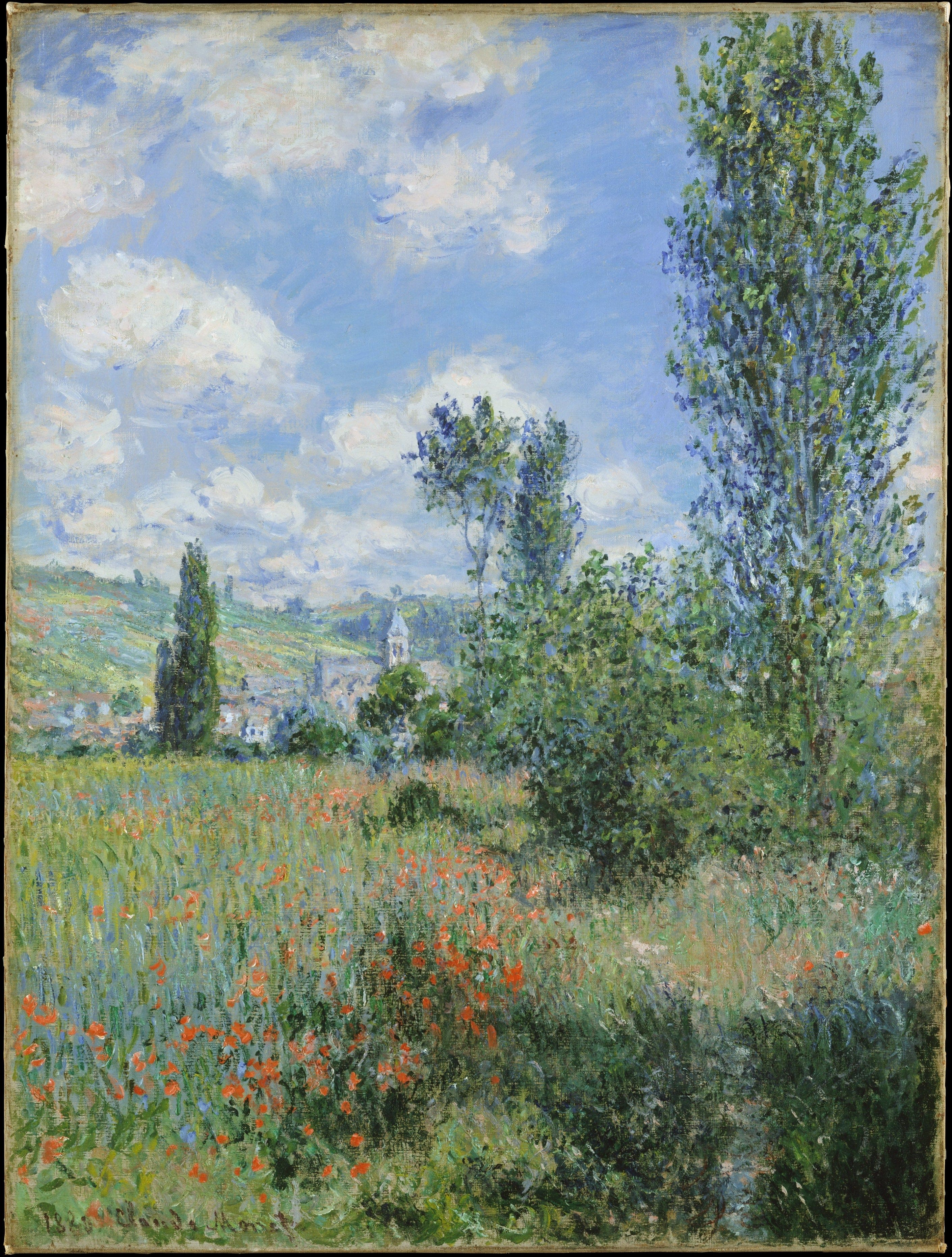View of Vetheuil, Claude Monet-min-min
