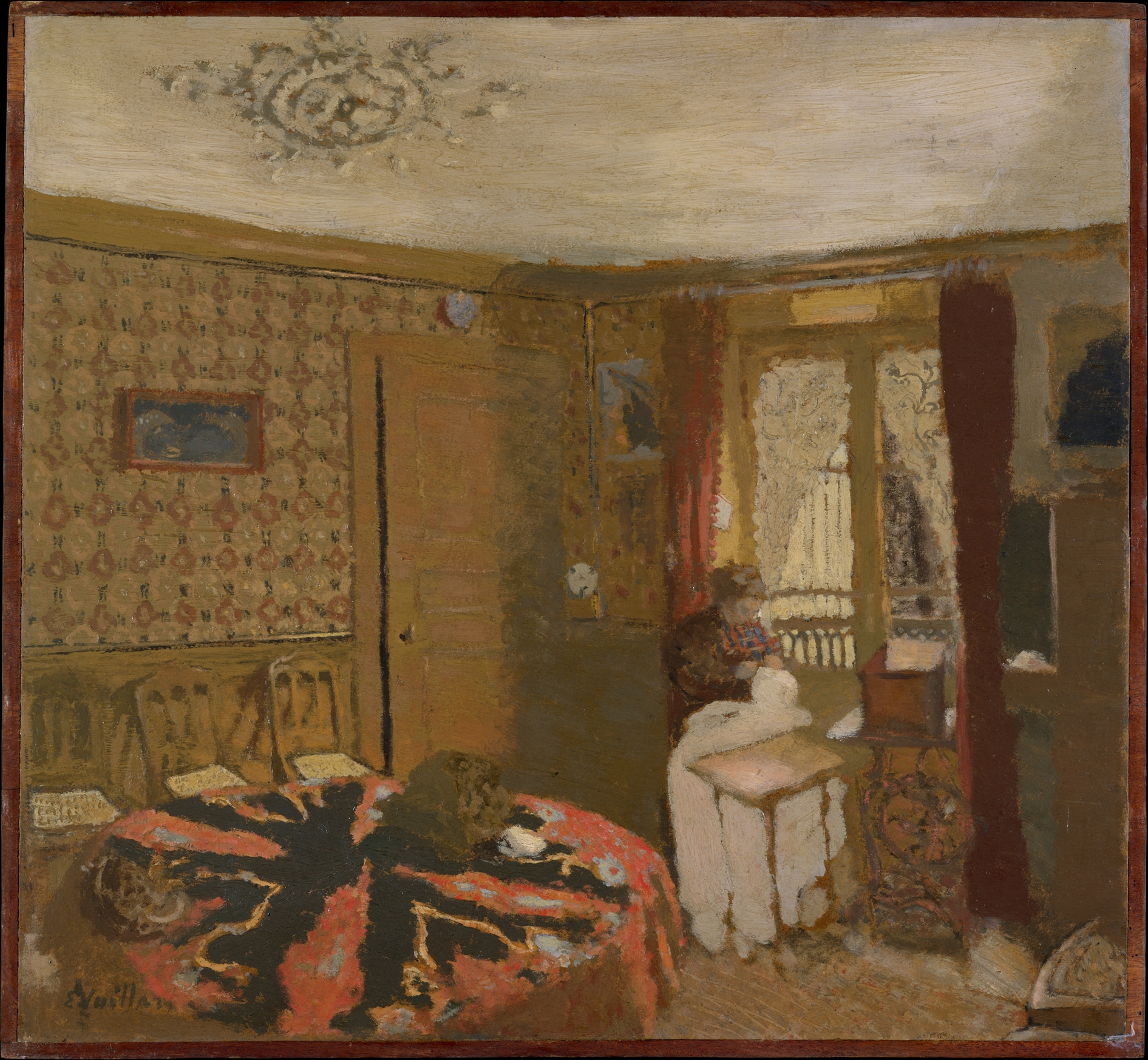 Mme Vuillard Sewing by the Window, rue Truffaut