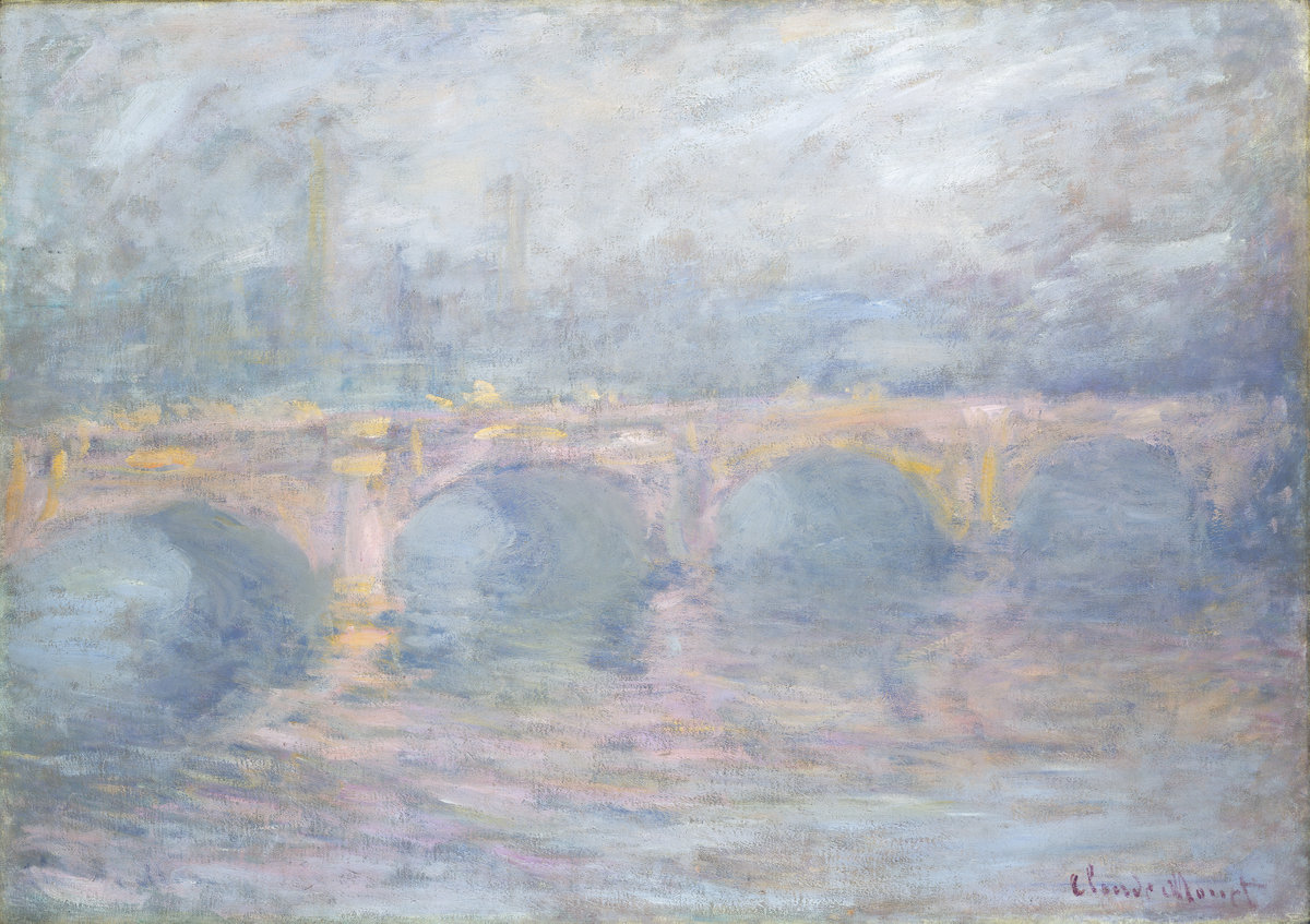Claude Monet, Waterloo Bridge, London, at Sunset, French, 1840 - 1926, 1904, oil on canvas, Collection of Mr. and Mrs. Paul Mellon
